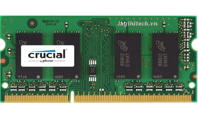 Ram laptop DDR3L Bus Crucial 8GB 1600 For Mac