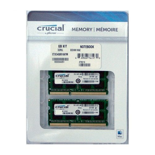 RAM Laptop DDR3L Crucial 8gb KIT 4gbx2 Bus 1600 For Mac