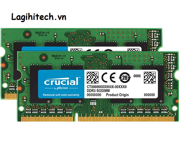 Ram Laptop DDR3L Crucial 16GB Kit 8GBx2 Bus 1600