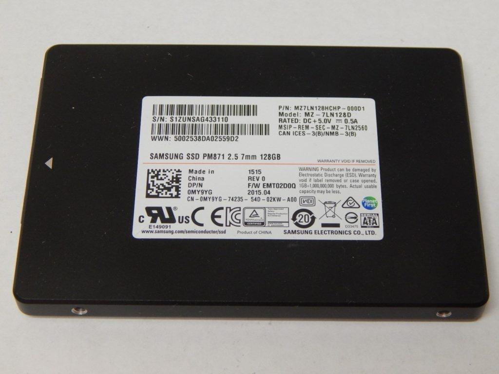 SSD Samsung PM871 128gb 2.5-inch sata iii