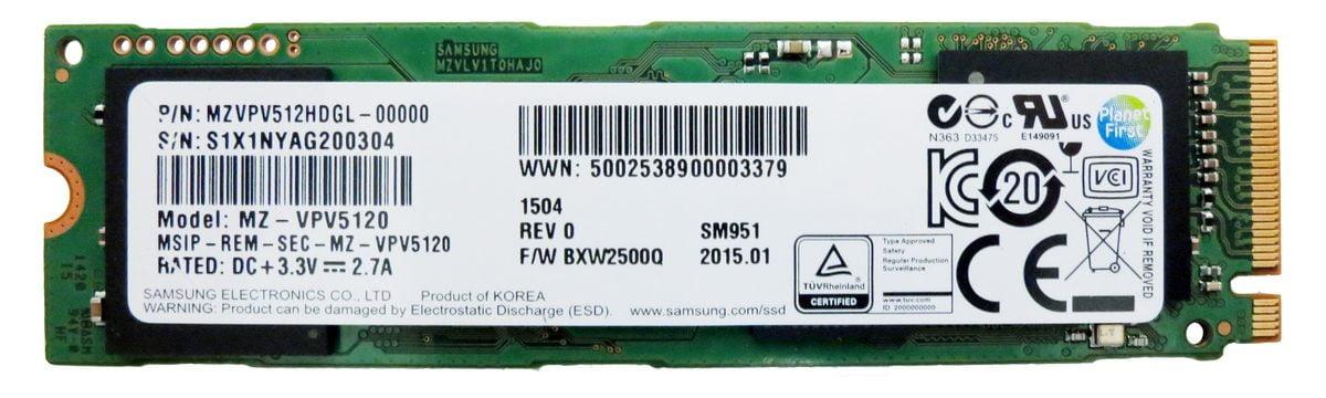 SSD Samsung SM951 512GB M2 2280 PCIe