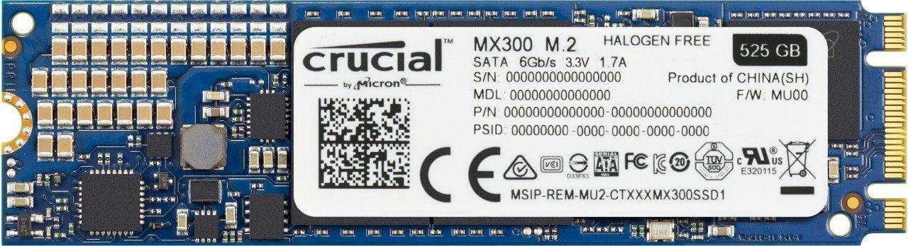 Cấu tạo của ổ cứng SSD Crucial MX300 525gb M.2 2280 CT525MX300SSD4