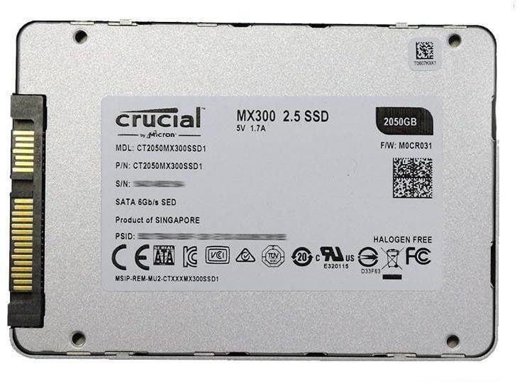 SSD Crucial MX300 2TB 2.5 Inch SATA iii