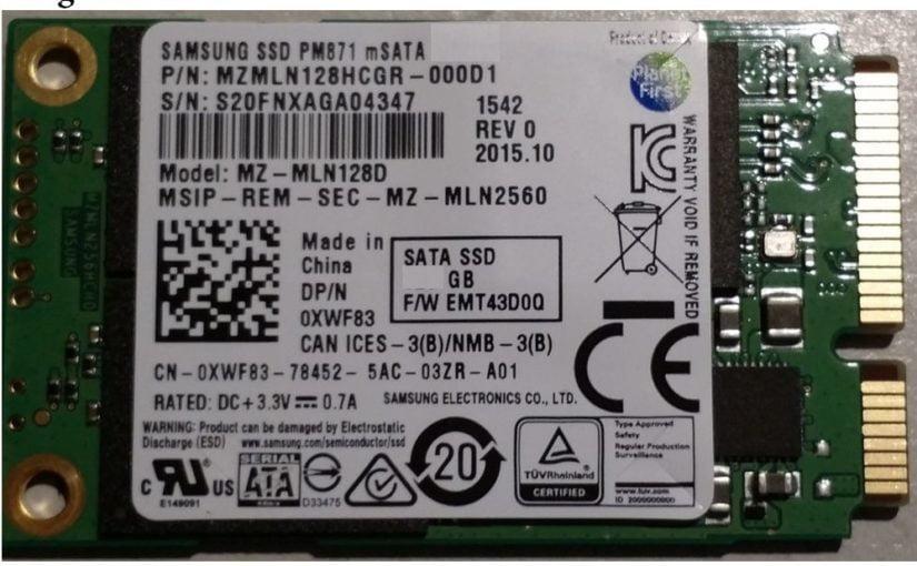 SSD Samsung PM871 128gb mSATA