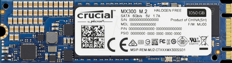 Thiết kế ổ cứng SSD Crucial MX300 1TB M2 2280 CT1050MX300SSD4