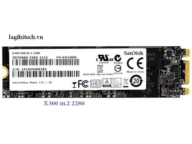 Thiết kế ổ cứng SSD Sandisk X300 256gb M2 SATA 2280