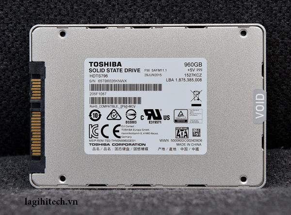 Thiết kế ổ cứng SSD Toshiba Q300 960GB SATA III 2.5 inch
