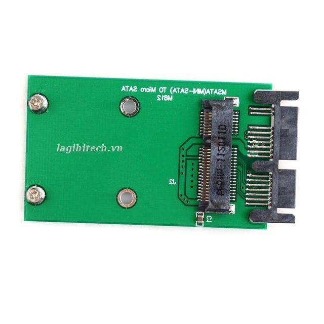 Adapter Chuyển Đổi SSD mSATA To Micro SATA 1.8 Inch