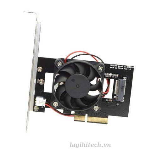 Adapter M2 NVMe To PCIe 3x4 Có Quạt Tản Nhiệt