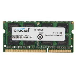 RAM Laptop DDR3L Crucial 8gb Bus 1600