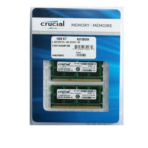 Ram Laptop DDR3L Crucial 16GB Kit 8GBx2 Bus 1867