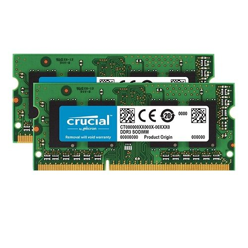 Ram Laptop DDR3L Crucial 8GB Kit 4GBx2 Bus 1600