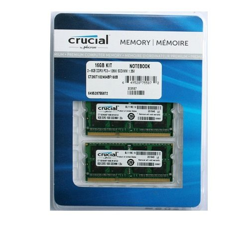 Ram laptop DDR3 Crucial For Mac KIT 16Gb (8gbx2) Bus 1600
