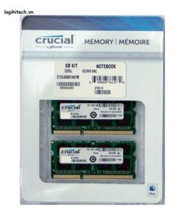 Ram laptop DDR3 Crucial For Mac KIT 8GB (4gbx2) Bus 1867
