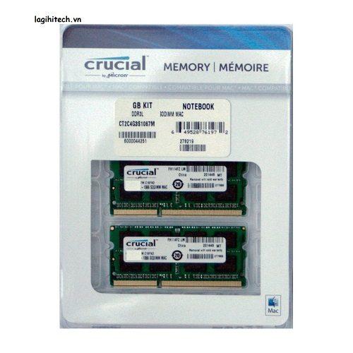 Ram laptop DDR3 Crucial For Mac KIT 8GB (4gbx2) Bus 1867