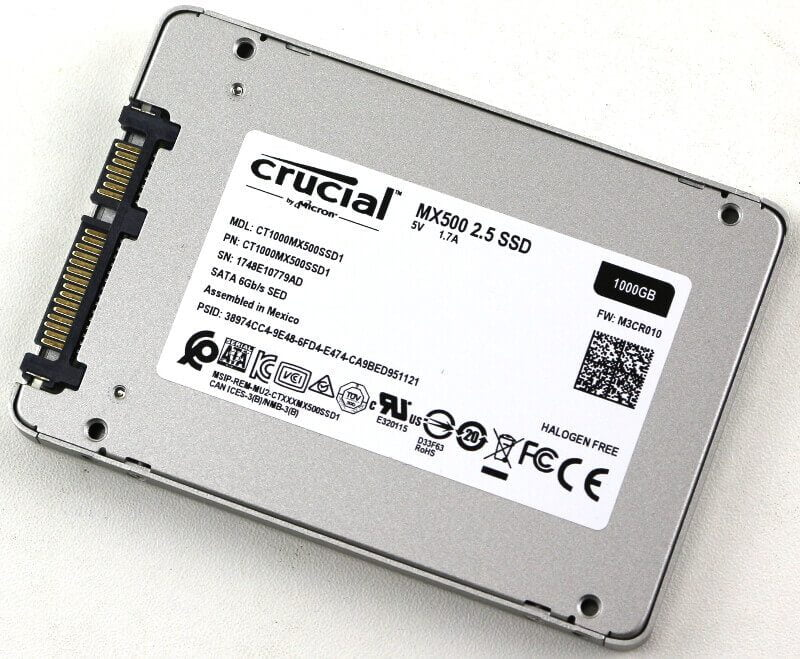SSD Crucial MX500 1TB 2.5 SATA iii