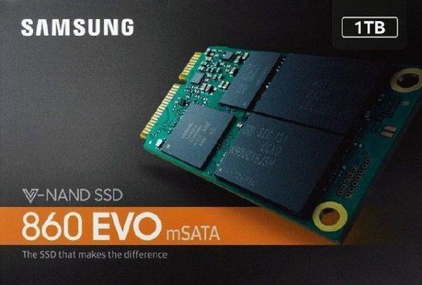 Mẫu ổ cứng SSD Samsung 860 EVO 1TB mSATA