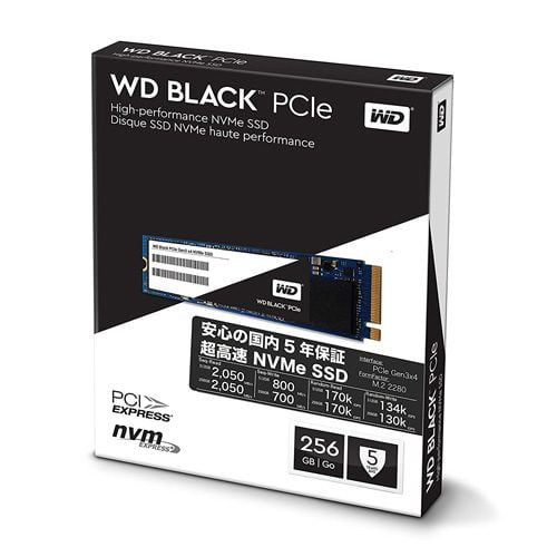 Ổ Cứng SSD WD Black 256GB M2 2280 NVMe