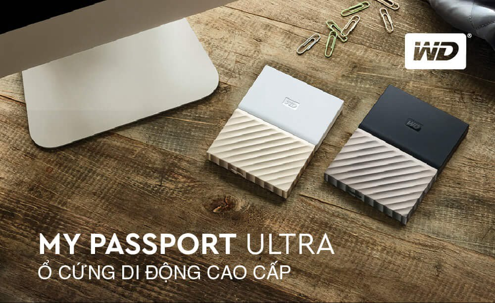 Ổ Cứng WD My Passport Ultra 1TB 2017