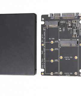 Adapter Chuyển Đổi SSD mSATA + M2 SATA to SATA iii 2.5 inch (Màu ngẫu nhiên)
