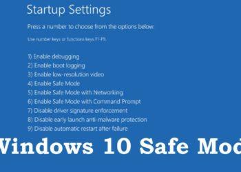 Cách vào Safe Mode Win 10