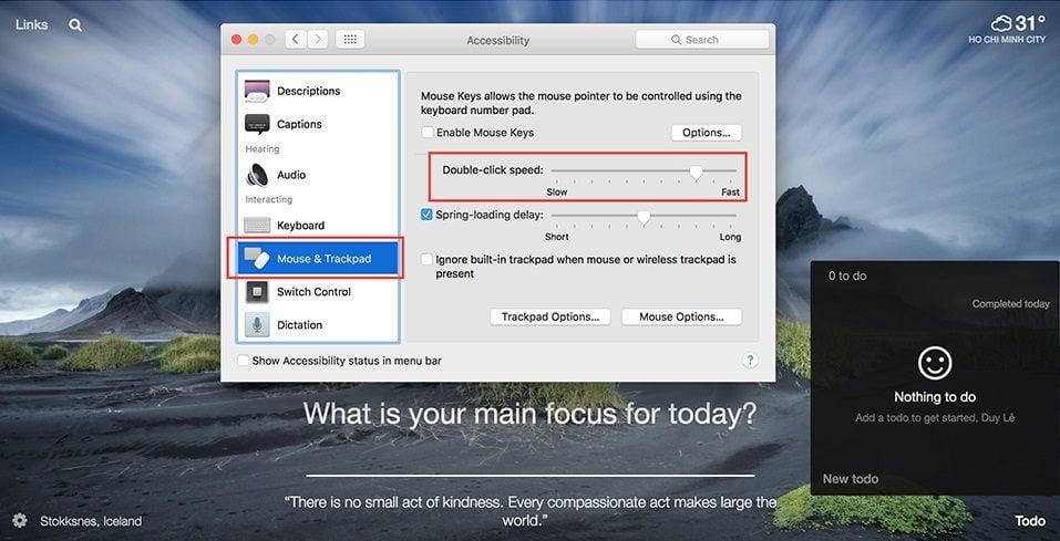 Khắc phục khi double click không hoạt động