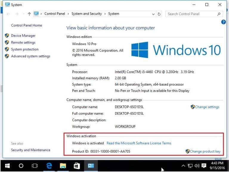 Kiểm tra lại trạng thái windows sau khi đã cài chương trình