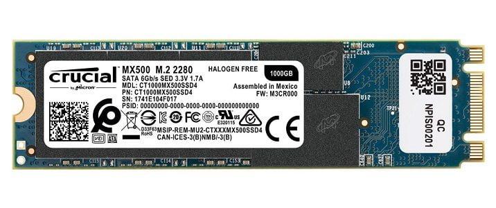 Ổ Cứng SSD Crucial MX500 Chính Hãng