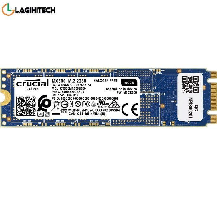 SSD Crucial MX500 500GB M2 2280 NGFF
