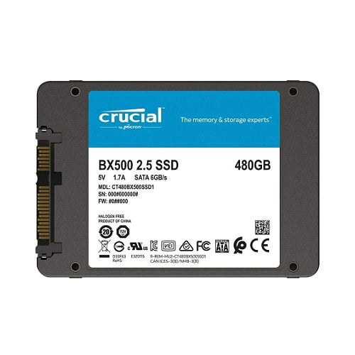 SSD Crucial BX500 480GB 2.5 inch SATA III 3D NAND