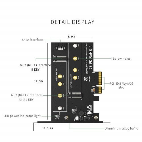 adapter.kingshare.m2sata.m2pcie.to.pcie.3.0×4.b