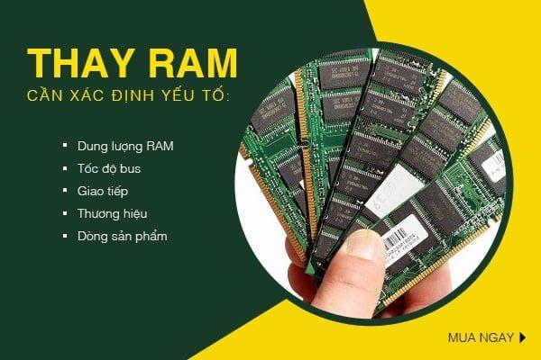 Các yếu tố cần xác định trước khi thay ram 4gb laptop