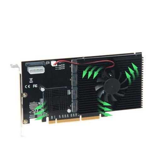 Card Raid SSD PCIE NVME ( 4 SSD in 1 ) hình ảnh 1