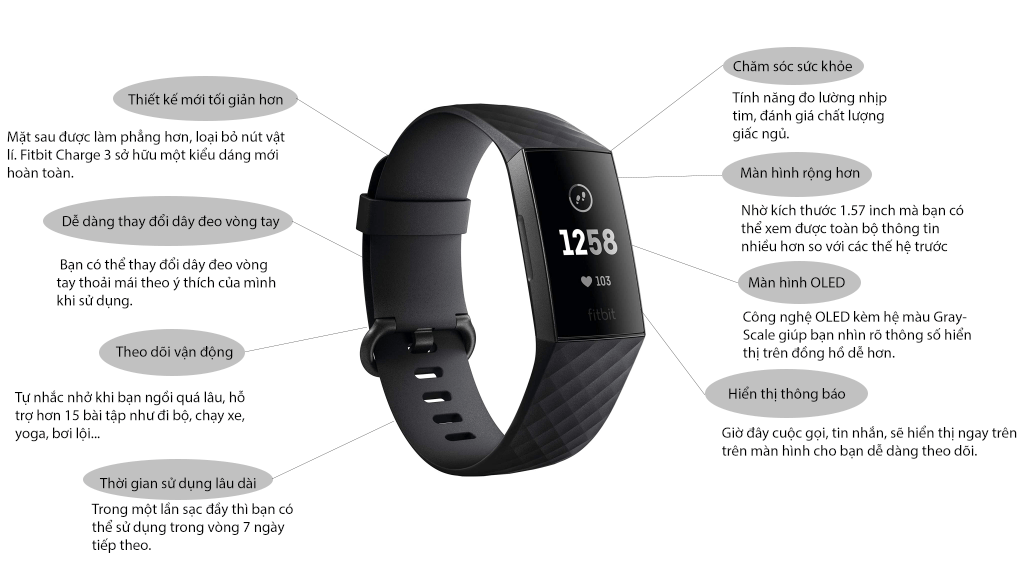 Infographic Fitbit Charge 3