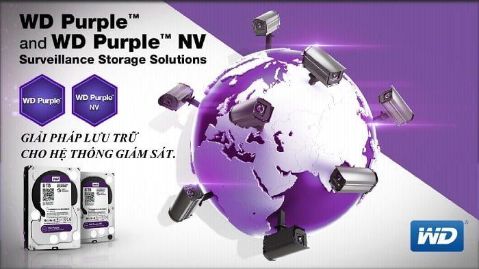 Ổ Cứng Lưu Trữ WD Purple 10TB