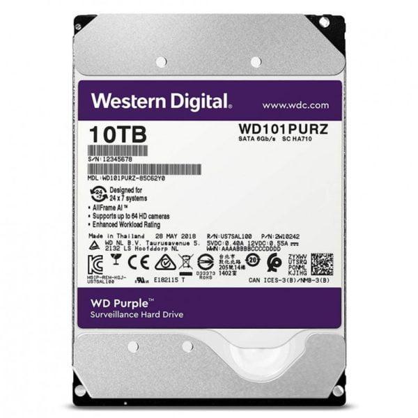 Ổ Cứng HDD WD Purple 10TB WD101PURZ Chính Hãng