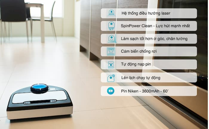 Reviews robot hút bụi thông minh roomba e6 6198 đồng bộ với điện thoại của bạn