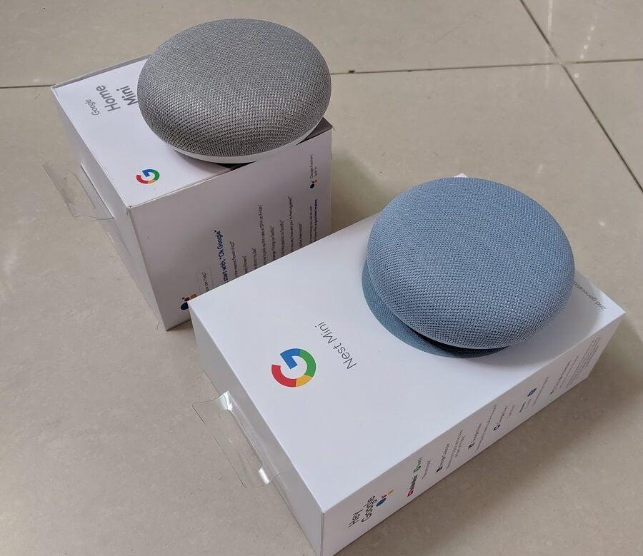 So sánh Google Nest Mini và Google Home Mini 2