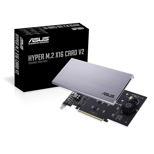 Adapter Asus Hyper M.2 x 16 PCIe 3.0 x 4 V2 (Hỗ trợ 4 SSD NVMe) 1