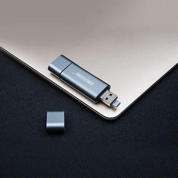 Đầu đọc thẻ nhớ Kingshare Type C To USB 3.0, SDMicroSD KS-RV16U3H 3