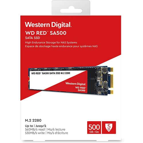 Ổ Cứng SSD WD Red SA500 500 GB M2.2280 WDS100T1R0B 1 WDS500G1R0B 3