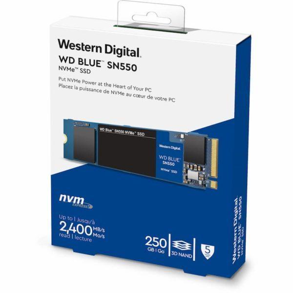 SSD WD Blue SN550 250GB NVME M.2 2280 WDS250G2B0C