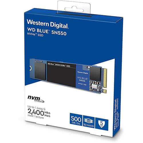 SSD WD Blue SN550 500GB NVME M.2 2280 WDS500G2B0C 1