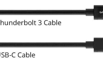 Thunderbolt 3 và USB C 1