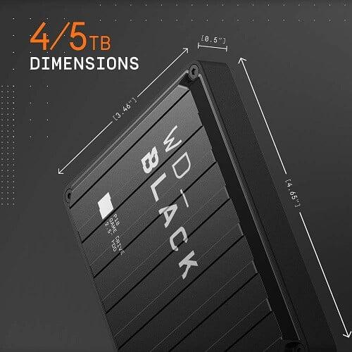 Ổ Cứng Di Động HDD WD Black P10 5TB 2.5 inch, USB 3.2 WDBA3A0050BBK 2