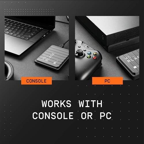 Ổ Cứng Di Động HDD WD Black P10 5TB 2.5 inch, USB 3.2 WDBA3A0050BBK 4