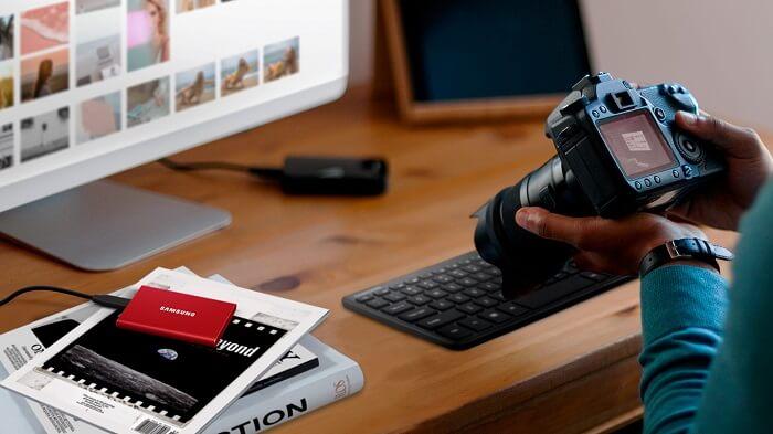 Ổ Cứng Di Động SSD Samsung T7 Non Touch 1TB USB Type C 3.2 Gen 2 1