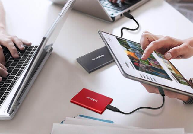 Ổ Cứng Di Động SSD Samsung T7 Non Touch 2TB USB Type C 3.2 Gen 2 1