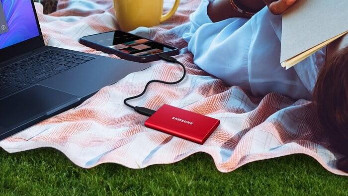 Ổ Cứng Di Động SSD Samsung T7 Non Touch 2TB USB Type C 3.2 Gen 2 3