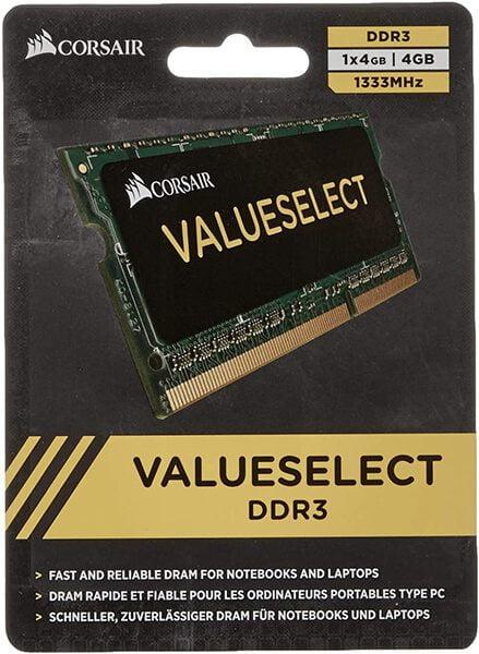 RAM Laptop DDR3 Corsair 4GB Bus 1333 SODIMM CMSO4GX3M1A1333C9 1